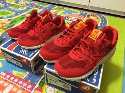 全新正品  New balance  MRT580 紅色情侶鞋