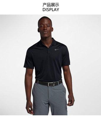 @潮流精品城 新款Nike/耐克 高爾夫polo 老虎伍茲服裝黑色短袖t恤男子golf速干運動