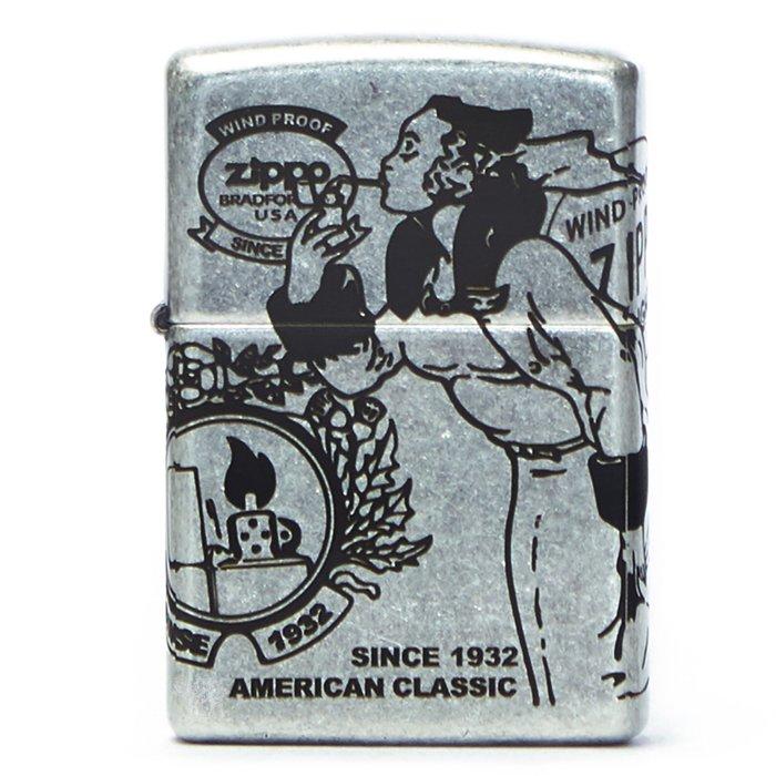 黑羊選物 Zippo 風中女郎 古銀做舊 經典元素 煤油打火機 美國原廠正品 經典配件 菸友必備 適合送禮 復刻加工