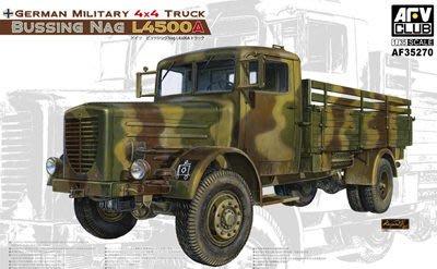 【AFV CLUB AF35270】1/35 德軍 BUSSING L4500A 4X4 軍用卡車 (附精密蝕刻片)
