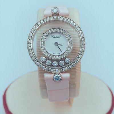 【立勝當鋪】蕭邦 快樂鑽 5鑽 皮帶錶 編號E00143
