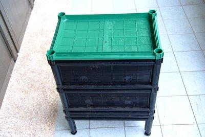 【多功能通氣式組合廚餘桶、堆肥箱、蚯蚓箱】廚餘變黃金,可養蚯蚓,型號:D17N+~育材公司出廠含1個綠色上蓋