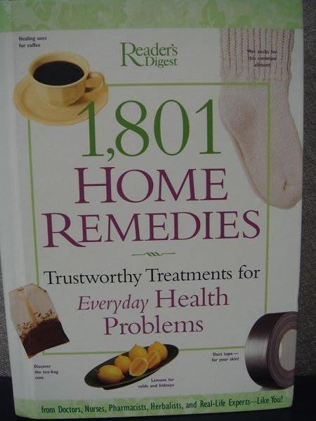 全新原文養生精裝書【1801 Home Remedies】,低價起標無底價!免運!