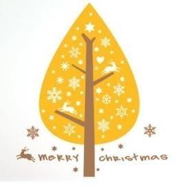 小妮子的家@聖誕樹 壁貼/牆貼/玻璃貼/磁磚貼/汽車貼/家具貼