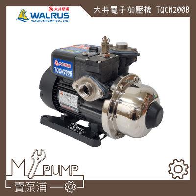 【MY.PUMP 賣泵浦】大井 TQCN200B TQCN200 熱水用 太陽能 抗菌 電子穩壓加壓機 加壓機 加壓馬達