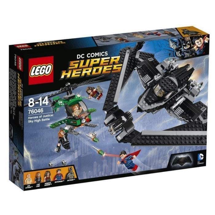現貨【LEGO 樂高 】100% 全新正品 益智玩具 積木 / 超級英雄系列:正義聯盟 高空戰鬥  蝙蝠俠 76046