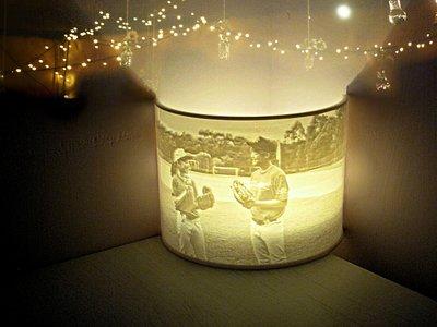 客製化-你的照片弧形小夜燈(連LED圓燭) - 個人化 結婚/生日/紀念日/情人節/聖誕禮物 Custom Photo LED Night Light