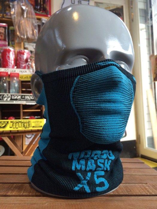 (I LOVE樂多)Naroo Mask 藍色長版X5騎行運動 面罩 單車 哈雷 越野 滑胎 偉士 VESPA Cafe