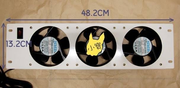 小寶五金專賣@12公分藍標散熱風扇3台組合+開關面做吹風+3護網