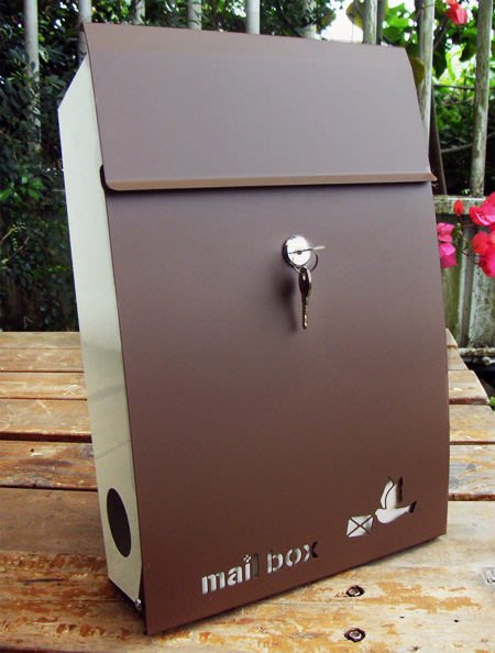 ☆成志金屬廠 ☆ 彩色不鏽鋼日式和風信箱---前開式 ---咖啡色