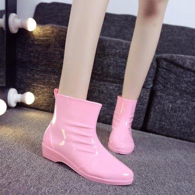 韓國時尚女雨鞋雨靴中筒膠鞋成人防水鞋防滑水靴韓版學生套鞋   全館免運