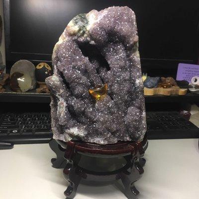 好犀晶-2.57kg 大顆烏拉圭 變種 紫水晶 異象 意象 柱狀 特殊結晶 瑪瑙財眼 紫晶鎮 晶洞晶片 原礦 收藏品