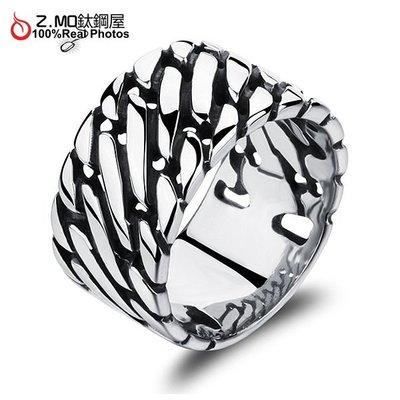 316L鈦鋼戒指 霸氣男生戒指 造型百搭 不生鏽 單只價【BKS466】Z.MO鈦鋼屋
