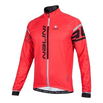 全新 義大利 NALINI LOGO TI 自行車男長袖薄刷毛車衣 紅色