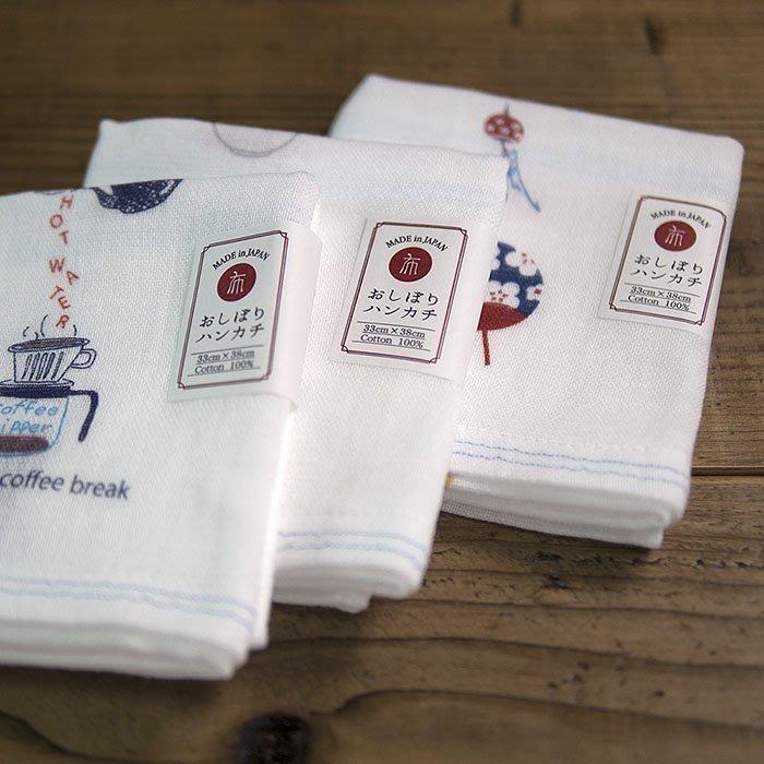乾媽店。日本製 Kontex 今治毛巾 手繪風格 純棉紗布巾 中長毛巾 超柔軟 尺寸 33*38cm