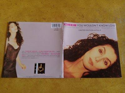 7吋單曲黑膠唱片《 Cher - You Wouldn't Know Love 》收錄四首經典曲目、英版