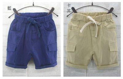 翔翔童衣舖[貨號:1286]小童款~夏裝-真側袋平織工作五分褲