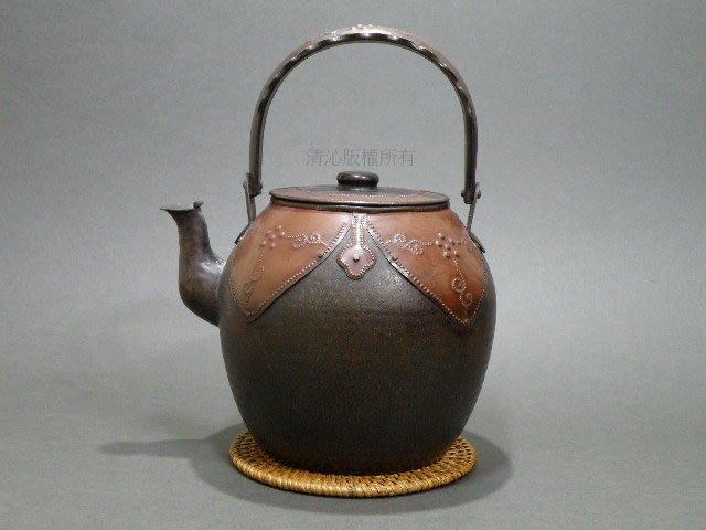 ☆清沁苑☆日本茶道具 鎚打銅器~古い銅虫 乳丁紋銅壺 銅水注~d068