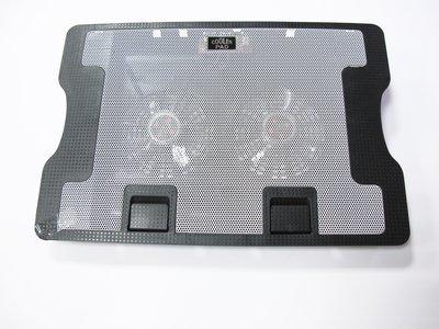☆偉斯科技☆13~15吋筆電(雙風扇)鐵網散熱墊 抽風式散熱器  支架散熱底座  散熱墊板~現貨供應中!