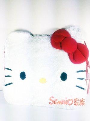 《東京家族》 Hello Kitty大臉造型 絲絨毛 筆記本包套 電腦袋