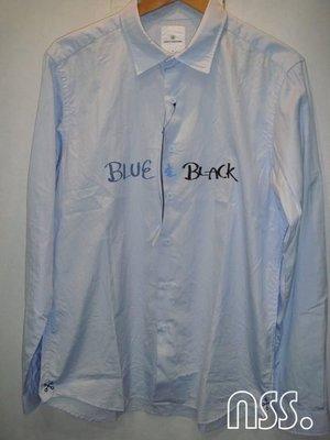 特價【NSS】uniform experiment 12 HANDWRITING FRONT ART SHIRT BLUE & BLACK 水藍 襯衫 XL 4