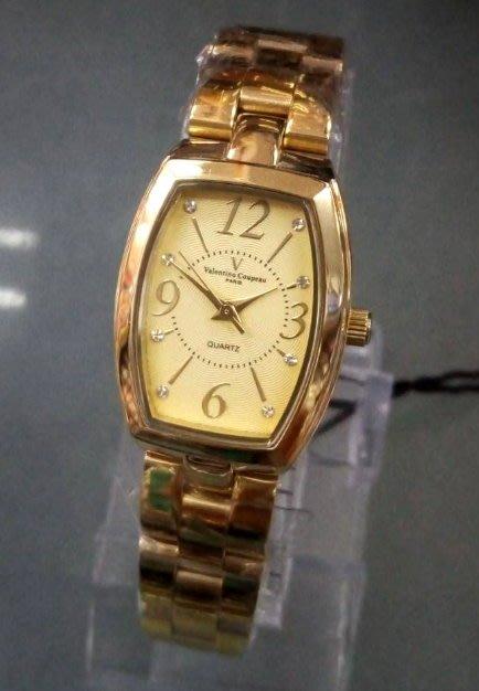 【 幸福媽咪 】網路購物、門市服務 Valentino Coupeau 范倫鐵諾 酒桶型女錶  61268KG