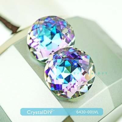 要流淚了太美 施華洛世奇#6430經典切割吊墜水晶燦紫(001VL)14mm 耳環項鍊 手機吊飾手作素材