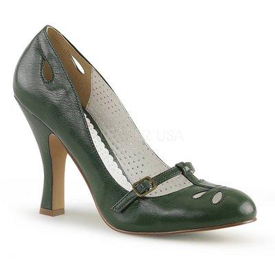 Shoes InStyle《四吋》美國品牌 PIN UP CONTURE 原廠正品高跟包鞋 有大尺碼『綠色』