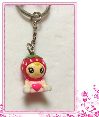 *草莓造型吊飾*