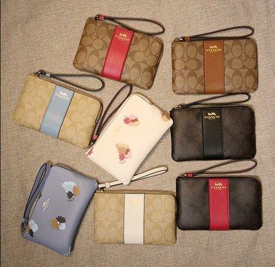 美國正品代購 COACH 58035 女士零錢包 手拿包 鑰匙包 經典C紋logo 錢包 拉鏈錢包 零錢袋