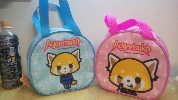 ///可愛娃娃///~正版三麗鷗~衝吧!烈子便當袋~圓型便當袋~手提袋~餐袋---約21公分
