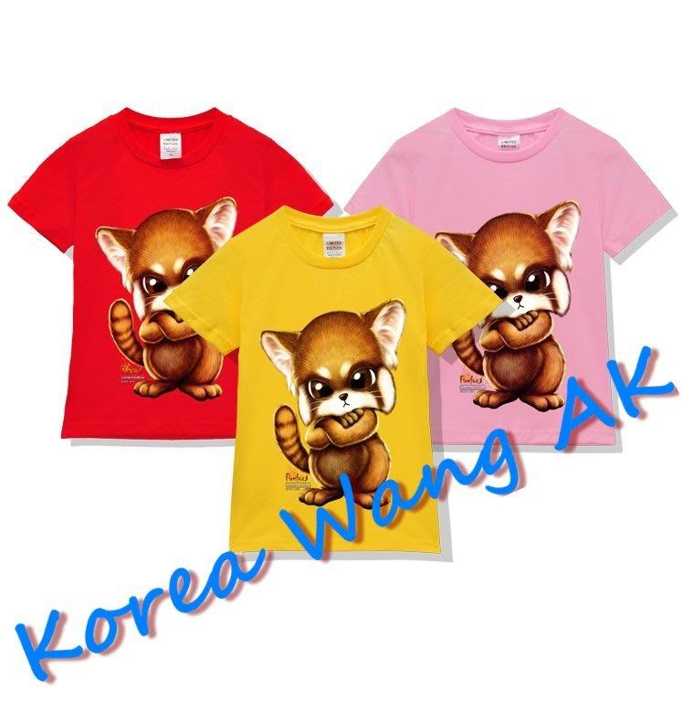 Korea Wang AK ~(預購)台灣原創獨家設計 美國純棉 限定版 酷酷火狸喵兒童青少年版T 六款【P101】