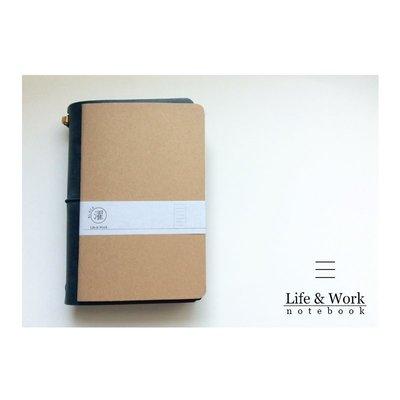 // 單買區 //【黑濯文坊】Life & Work 真皮皮革手帳筆記本 (B6 slim) -巴川紙內頁本-橫線
