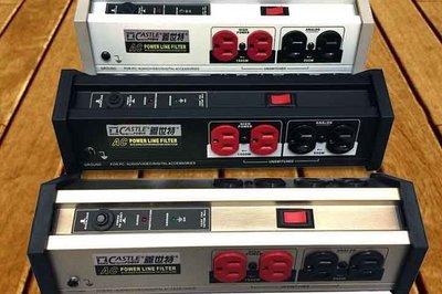 視聽影訊 CASTLE 蓋世特 OH-T8B 第4代 黑色 電源淨化濾波轉接器 全新品公司貨  PLF500 OS-S6B