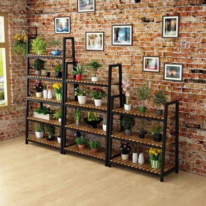 花架 定制鐵藝花架多層歐式吊蘭花盆架室內綠蘿落地多肉植物架陽台實木花架