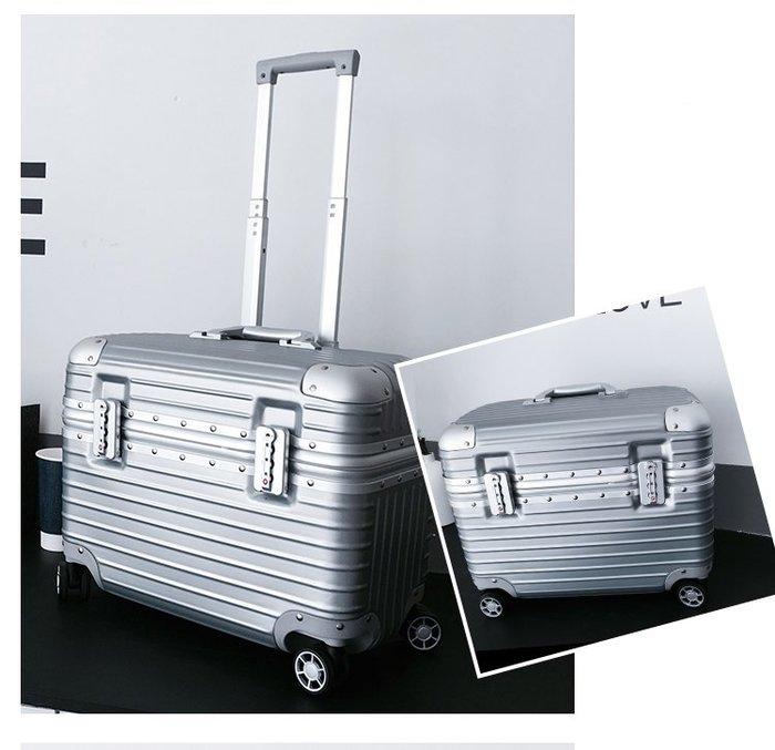 銀色拉桿式登機箱/行李箱 鋁框  TSA海關防爆鎖 9.9成新 上翻蓋 攝影箱 化妝箱 18吋 20吋 萬向輪