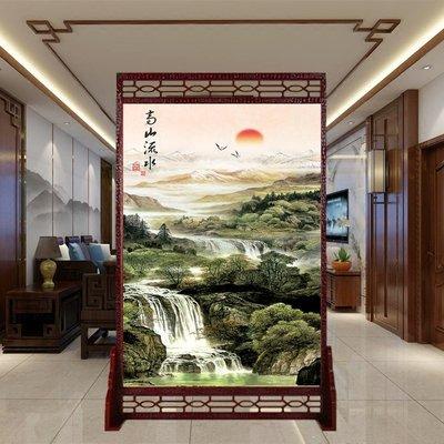 屏風 客廳隔斷 中國風定制實木中式客廳屏風隔斷玄關辦公室酒店雙面現代簡約仿古座屏