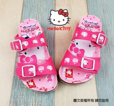 【琪琪的店】三麗鷗 HELLO KITTY 凱蒂貓 女童 童鞋 休閒鞋 勃肯 拖鞋 輕便鞋 台灣製 粉紅 819261