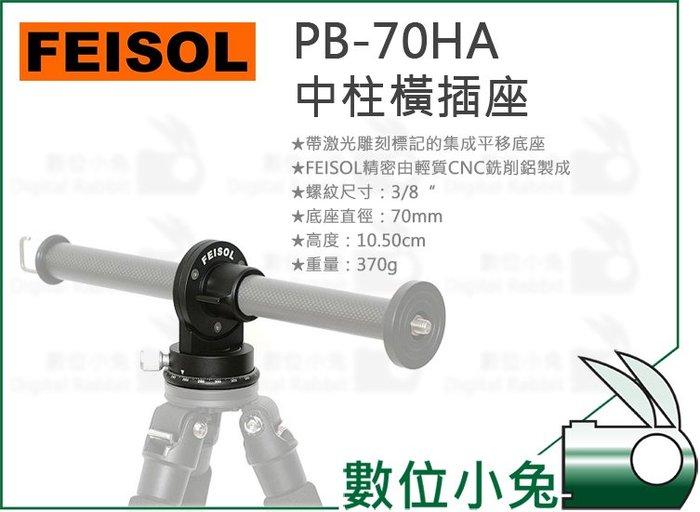 數位小兔【FEISOL PB-70HA 中柱橫插座】底座 相機平移 CNC 3/8 配件