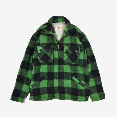 1960s Roomy Richard Mens CPO Shirt Jacket 黑綠 格紋 外套 Tenderlon