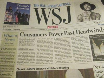 Feb 13-14, 2016 - The Wall Street Journal華爾街週報 (整份完好)