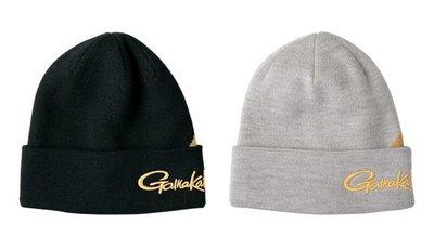 【NINA釣具】GAMAKATSU GM-9822 防寒保暖毛線帽/毛帽 黑色/灰色