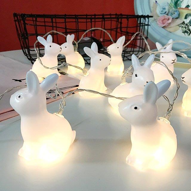 文青裝飾兔子燈【ZOWOO-B0098】房間佈置可愛 小清新文青風 生日禮物拍攝道具 可愛手作 FUN zakka波波球