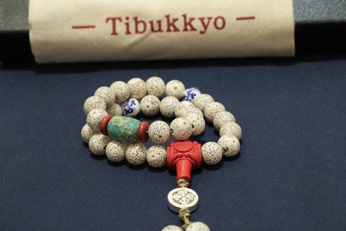 Tibukkyo 星月菩提 海南元寶籽 11mmA++ 圓珠 手持 925純銀 金剛杵 乾磨正月  星月 菩提子 帝皇石