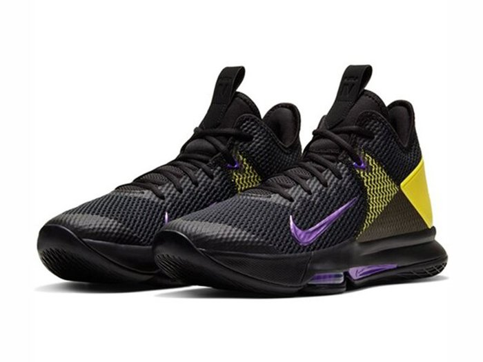 NIKE Lebron WitnessIV 籃球鞋 運動鞋 黑黃紫 男生尺寸   # CD0188-004