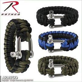 【ARMYGO】Rothco 不鏽鋼扣求生編織手環
