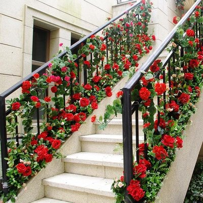 模擬手感海棠花藤軟裝家居裝飾壁掛塑膠假花藤條藤蔓模擬綠植物