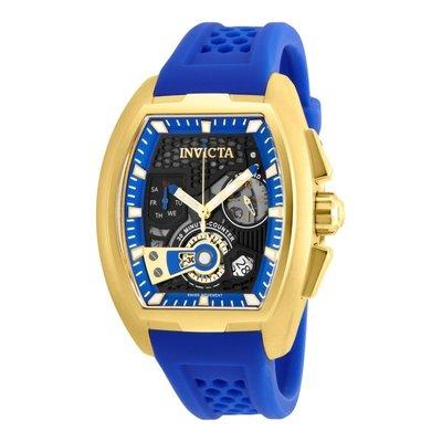 瑞士製 Invicta 英威塔1.7折! S1 Rally 藍三眼方形手錶男錶賽車錶26399全新真品原廠包裝