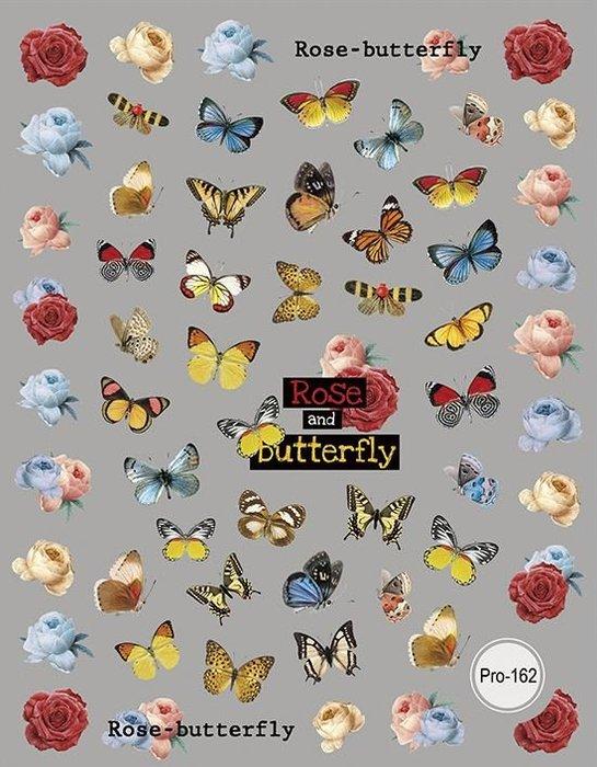 艾薇 Ivy's Nail美甲批發╭*5D浮雕美甲貼紙 Pro-162 蝴蝶花朵 指甲貼紙 日韓人氣立體貼紙