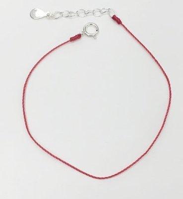 [Le Bonheur Line] 幸福線 手工/單線 單紅線 /紅線 手鍊 無飾品 redline 紅繩
